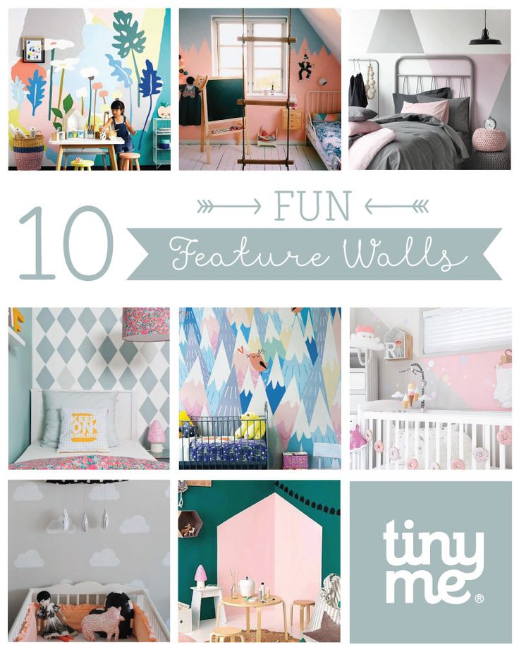 10 Fun Feature Walls ~ Tinyme