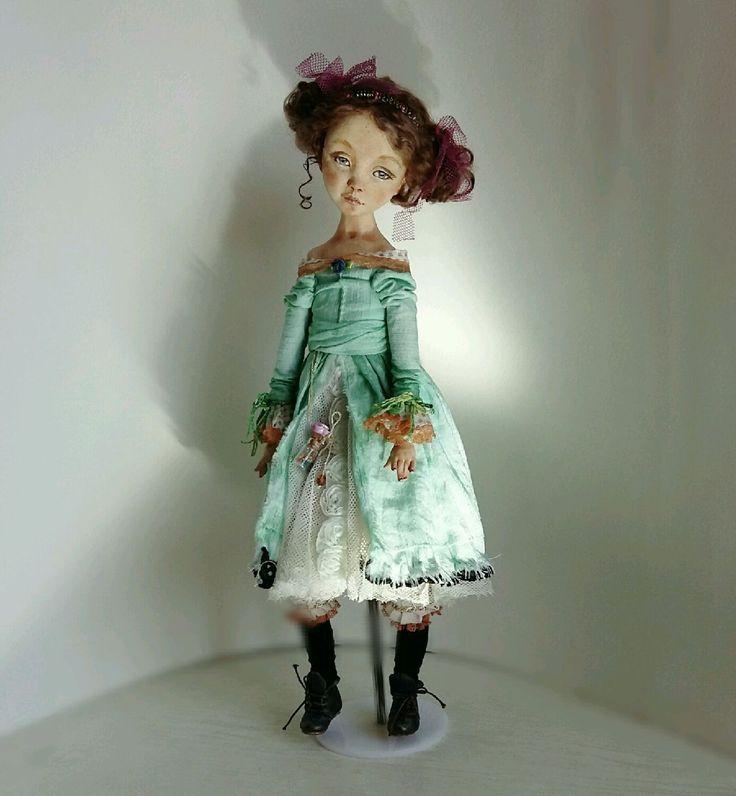 Купить Кукла авторская коллекционная ручной работы интерьерная будуарная - кукла, кукла авторская