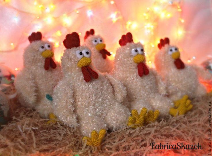 Купить Петух вязаный, петух игрушка, новогодний петушок, символ года 2017 - петух