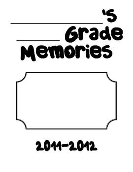 End of school year memory book