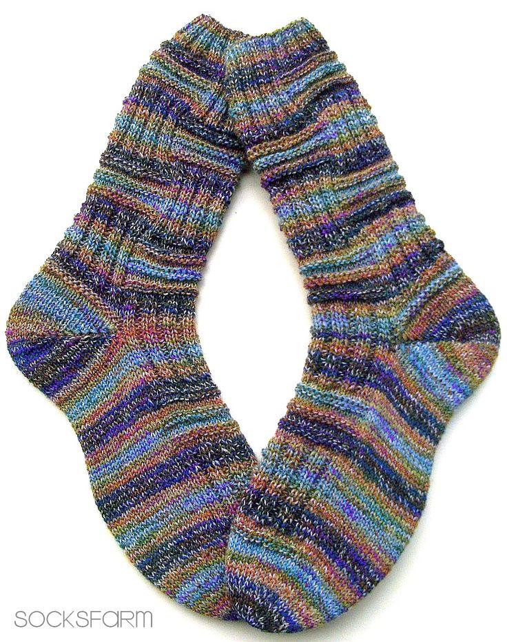 394 besten Socken Bilder auf Pinterest | Socken stricken, Gestrickte ...