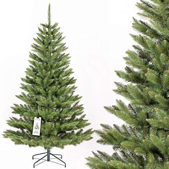 Kunststoff Weihnachtsbaum Kaufen.Fairytrees Künstlicher Weihnachtsbaum Fichte Natur Baumstamm Grün