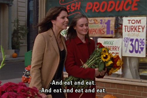 My two favorite things EVER: Gilmore Girls + Thanksgiving