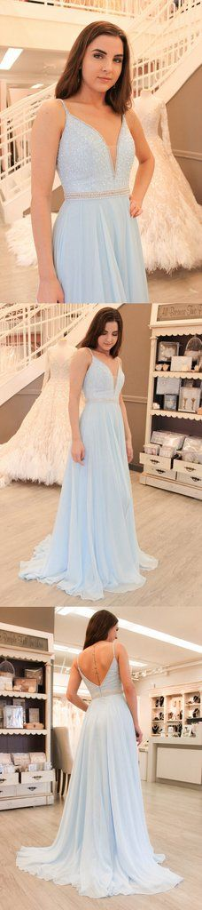 Light Blue Prom Dress, Back To School Dresses, Prom Dresses For Teens, Pageant Dress, Graduation Party Dresses BPD0577