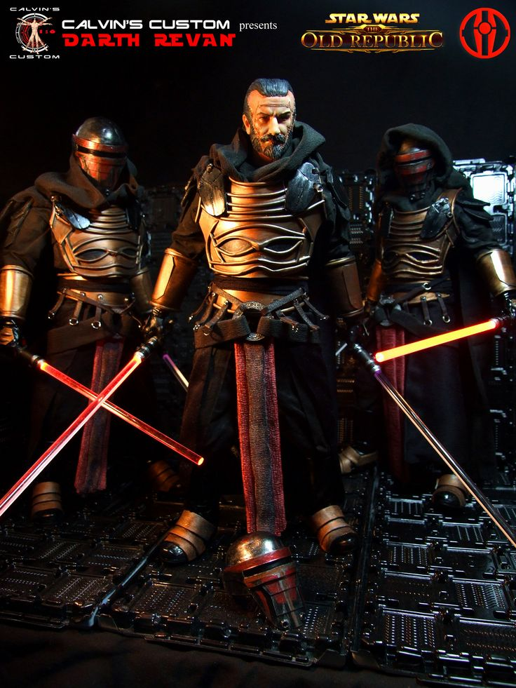 Calvin's Custom one sixth scale Starwars The Old Republic Commission Darth Revan figures.