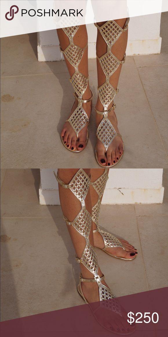 Elisabetta Franchi gladiator sandals. Beautiful gladiator sandals Elisabetta Franchi Shoes Sandals