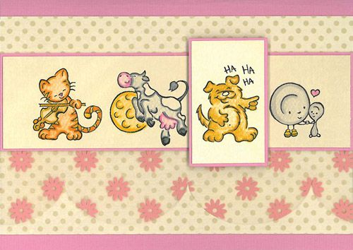 Stamp-it Australia: 4015E Cat & the Fiddle - Card by Paula