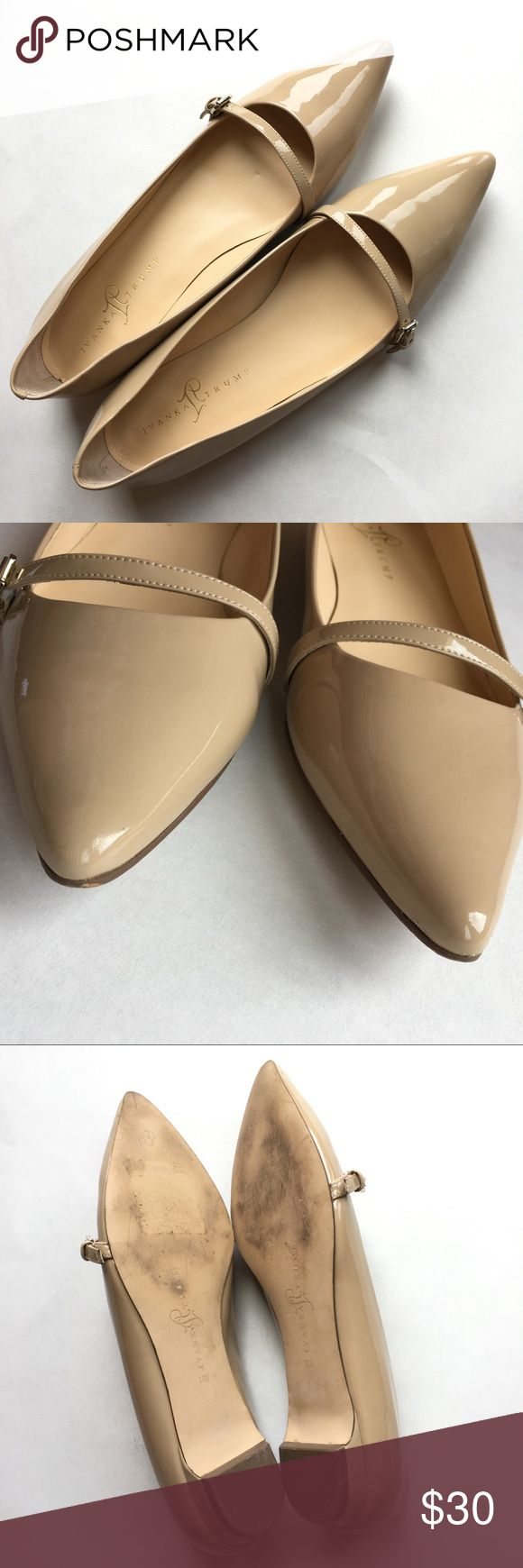 Ivanka Trump Itansley Nude Patent Leather Flats Ivanka Trump Itansley -Womens Size 10M  -Nude Patent Leather  -Adjustable strap  -Rarely worn -Heel Height: .75 inches Please refer to pictures prior to purchase (08517) Ivanka Trump Shoes Flats & Loafers