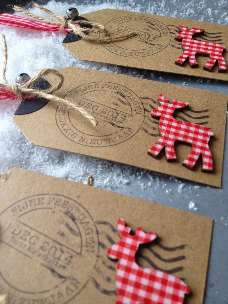 Bij Margriet Creatief: Nog veel meer kerstlabels gift tag