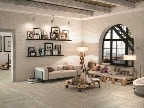 Wohnzimmer verlegemuster moderne Ideen Parkett