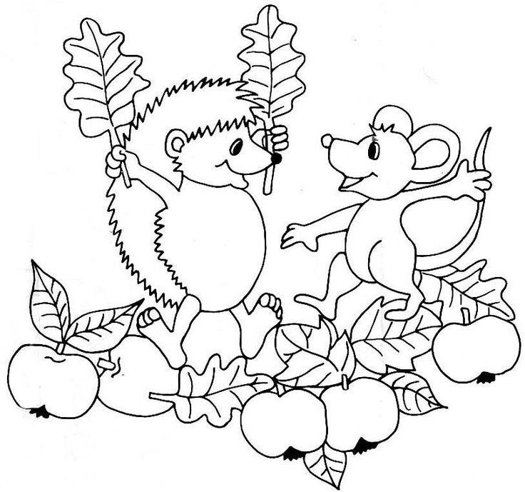 """... Herbst auf Pinterest"""" Malvorlagen herbst, Ausmalen und"""