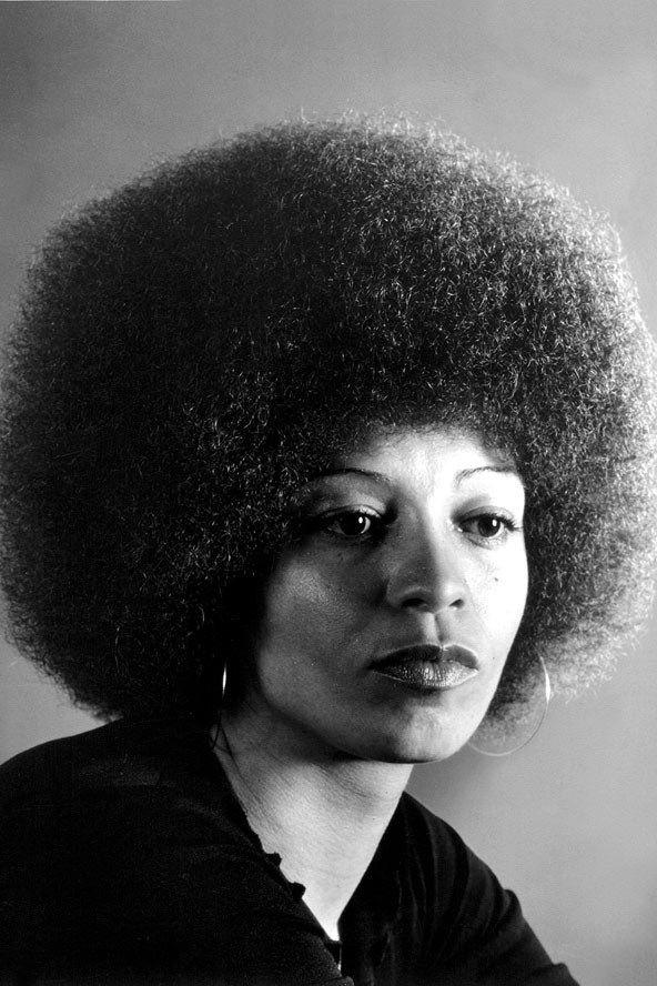 Image result for angela davis black and white