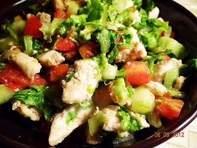 Cooking Up Something Nice: Quick & Healthy Lettuce Chicken Salad. Delicious and easy chicken salad recipe. A bowl of health in minutes!!