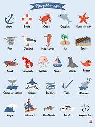 Affiche Imagier marin