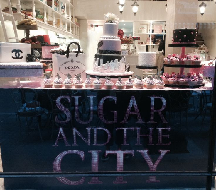 "SATC window ""Sugar and the city"""