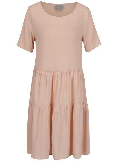 Staroružové šaty s krátkym rukávom VERO MODA Girlie