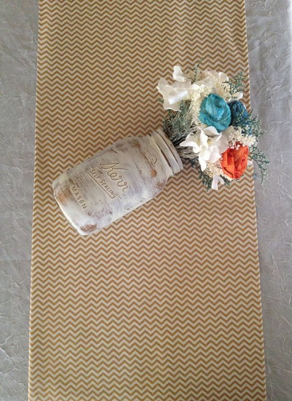 Gold table runners fabric MINI Gold Metallic and by BlessedinLove