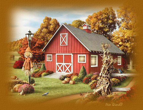 Happy Thanksgiving Country Images >> Autumn In The Country | Art/artist | Pinterest