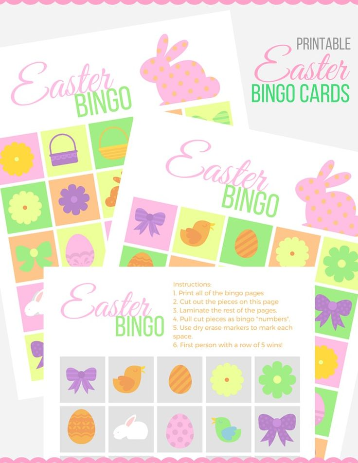 Easter Bingo Cards - Make these free printable dry erase bingo cards for Easter with the Xyron sticker maker.