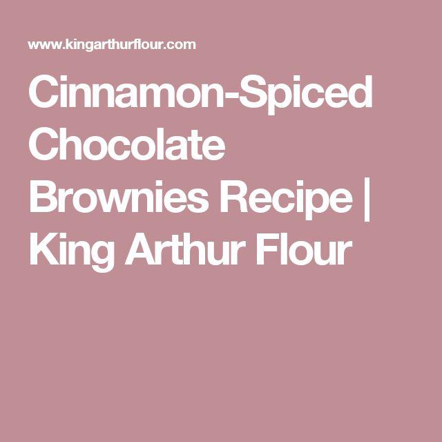 Cinnamon-Spiced Chocolate Brownies Recipe | King Arthur Flour