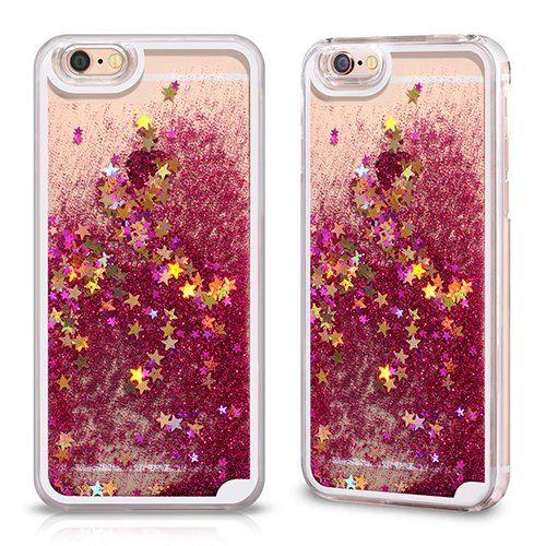 Coque Hot Rose Transparent et Liquide pour Apple iPhone 6