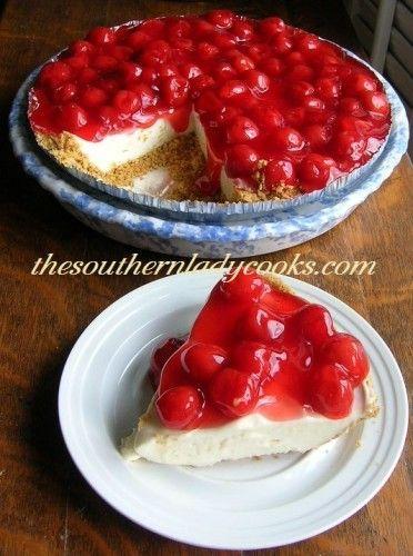 cherry cream cheese pie or cheesecake