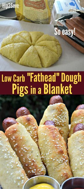 """Low Carb """"Fathead"""" Pigs in a Blanket – Hip2Save"""