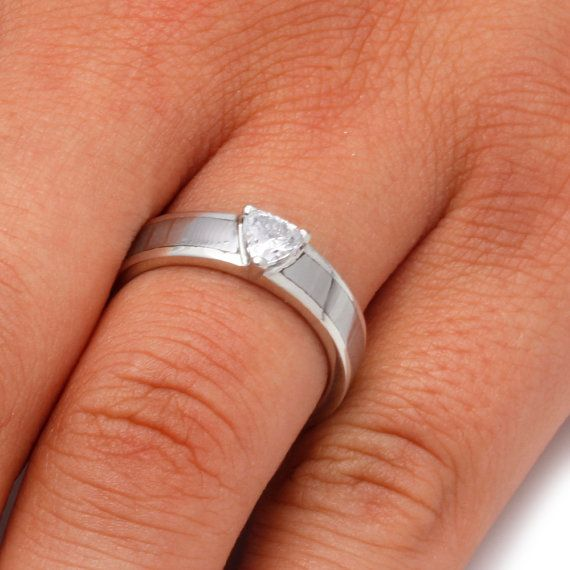 Cubic Zirconia Engagement Ring or CZ Wedding Band For Women