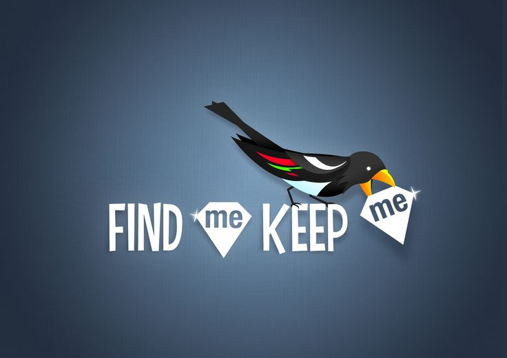 Find Me Keep Me brand by Lee Mason of Free Thinking Design