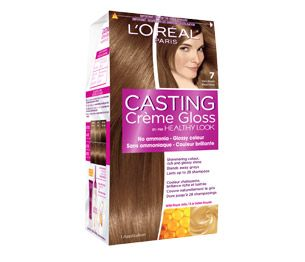 Healthy Look Crème Gloss - 7 Dark Blonde - L'Oréal Gives just enough shine and golden highlights to my ashy light brown/dark blonde hair and with no ammonia it's really a great option without the hassle of permanent hair dyes