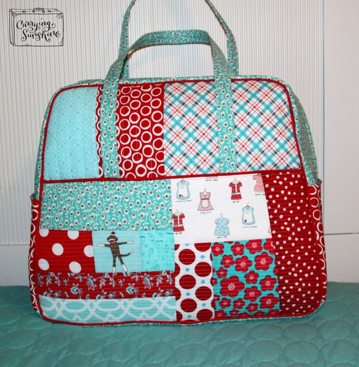 Amy Butler weekender bag - great colours!