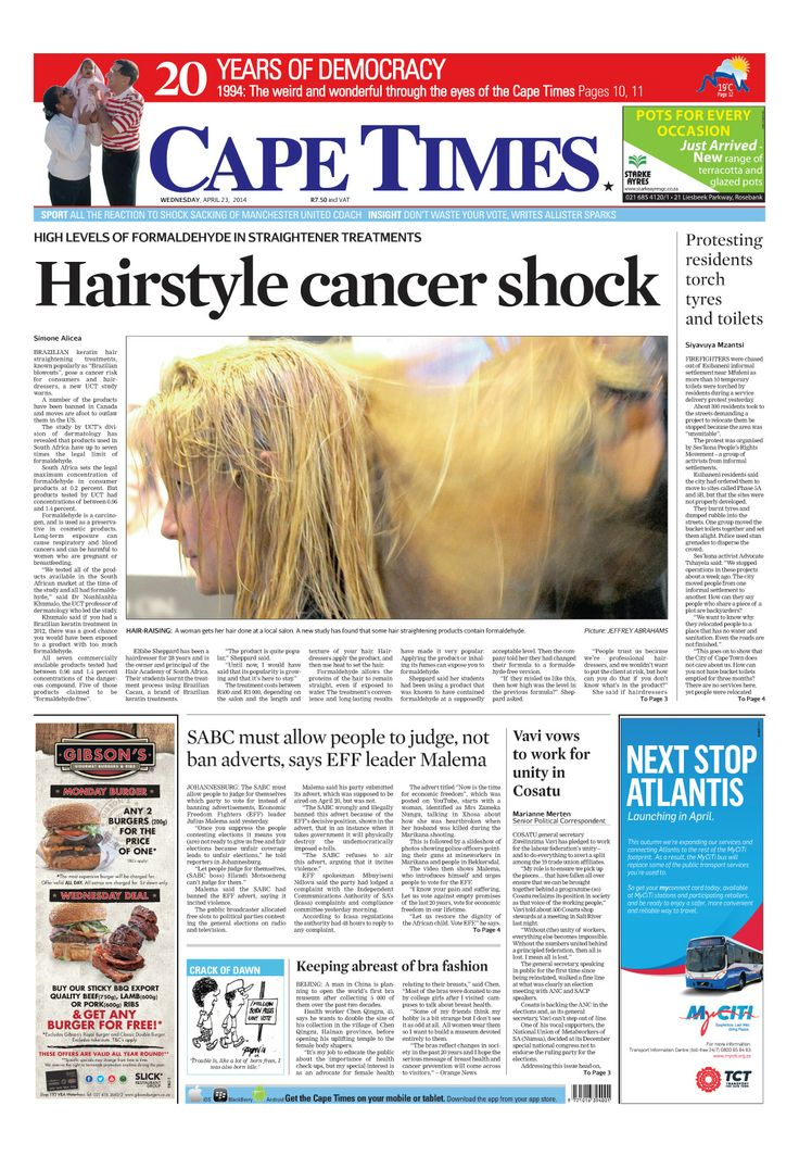 News making headlines:  Hairstyle cancer shock