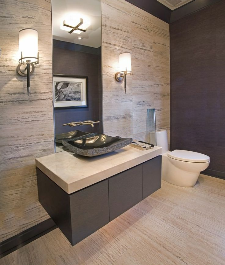 20 Sleek Ideas For Modern Black And White Bathrooms: 25+ Best Ideas About Modern Powder Rooms On Pinterest