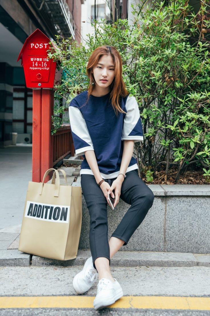 [Seoul Street] 모델 스트릿패션 모델 현지은, 황현주, 김혜아, 박소민 with Kanister 카니스터 보더티, 여자 보더티, : 네이버 블로그