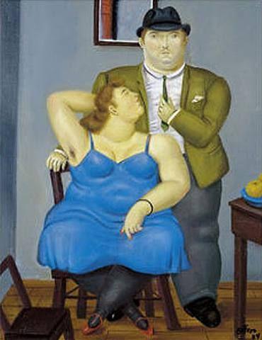 """Couple"" by Colombian artist Fernando Botero"