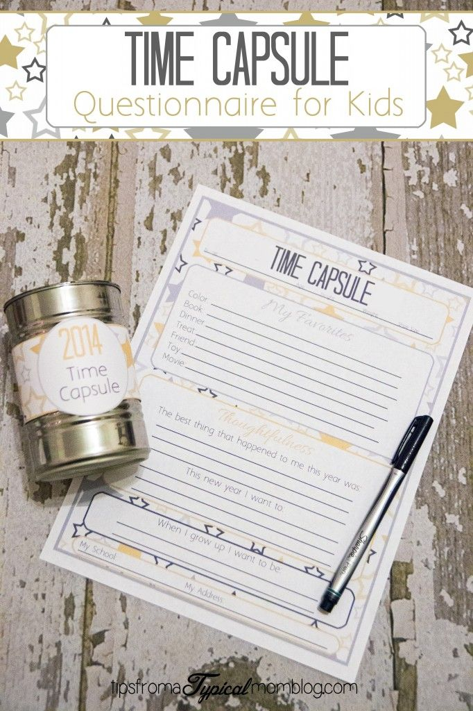 Okay this time capsule idea is FREAKING ADORABLE! We started it last year and…