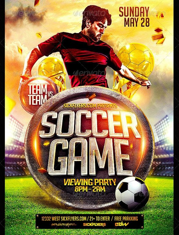 43 Soccer Flyer Templates In Psd Word Eps Vector Ai Free Psd Flyer Templates Flyer Flyer Template