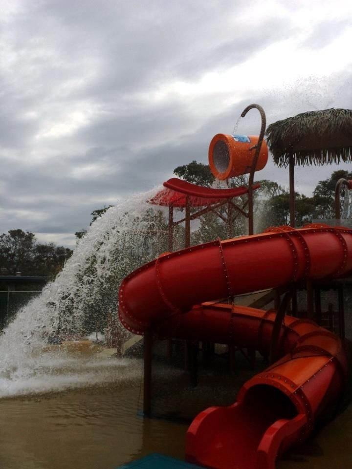 Splashdown at Discovery Holiday Parks Pambula Beach's new #Vortex #Splashpad. Opening day's not far away now...