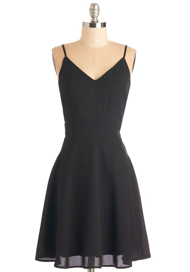 Sure and Simple Dress. Count on this chic black dress to bring timeless panache to any occasion! #black #modcloth