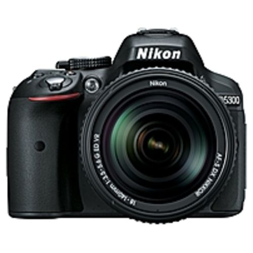 Nikon D5300 24.2 Megapixel Digital SLR Camera with Lens - 18 mm - 55 mm - Black - 3.2 LCD - 16:9 - 3.1x Optical Zoom - Optical (IS) - 6000 x 4000 Image - 1920 x 1080 Video - HDMI - PictBridge - HD Movie Mode - Wireless LAN - GPS
