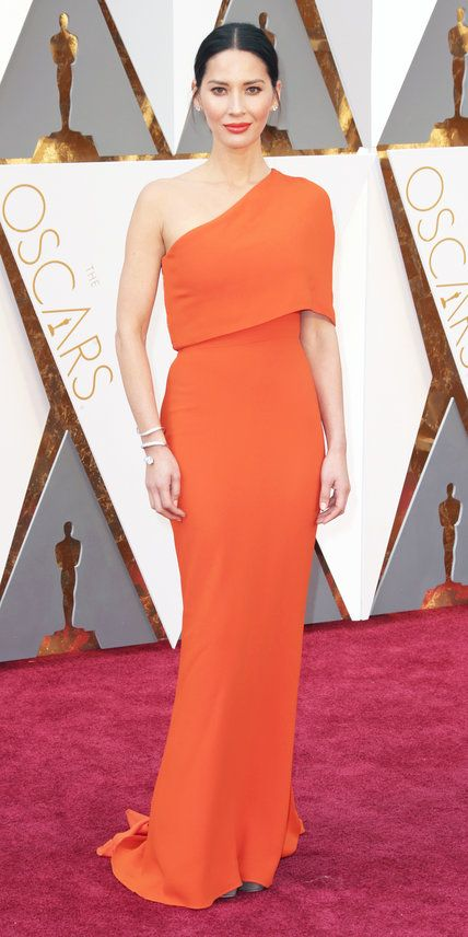 In Stella McCartney - 2016 Oscars Red Carpet Photos - Olivia Munn - from InStyle.com
