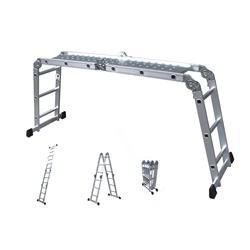 Escada de Alumínio Multifuncional com 2 Plataformas 8 em 1 - Super Tech