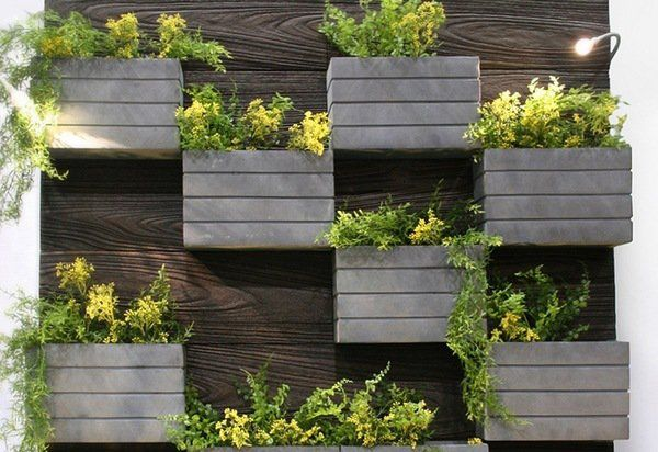 living wall planter DIY ideas wall mounted planter boxes
