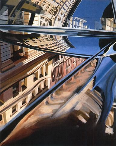 lines and sharp edges of painting give it good movement. good perpective. Richard Estes Paintings - Bing Images