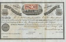 WEST VIRGINIA 1870, New Creek Company Stock Certificate