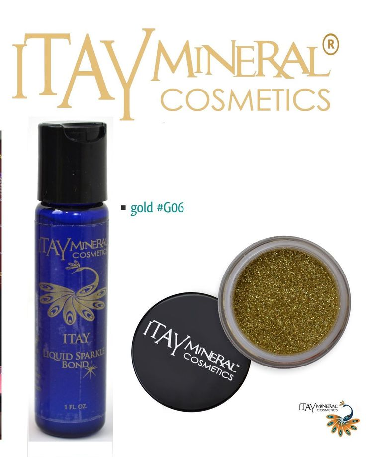 Itay Mineral Cosmetics Glitter Powder Eye Shadow G6 -Gold  Liquid Sparkle Bond (Glitter Eye Shadow Glue) *** You can get more details by clicking on the image.