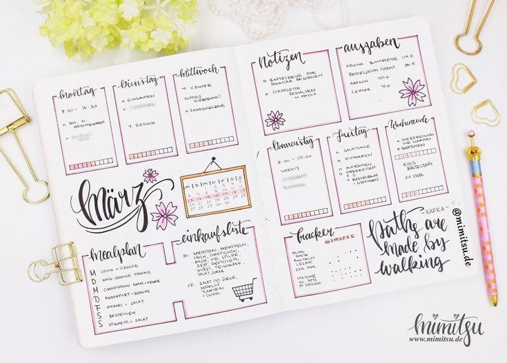 """Sakura"" Bullet Journal – Bullet Journal – Doodles – Handlettering – Sketchnotes – Tutorials -Anleitung"