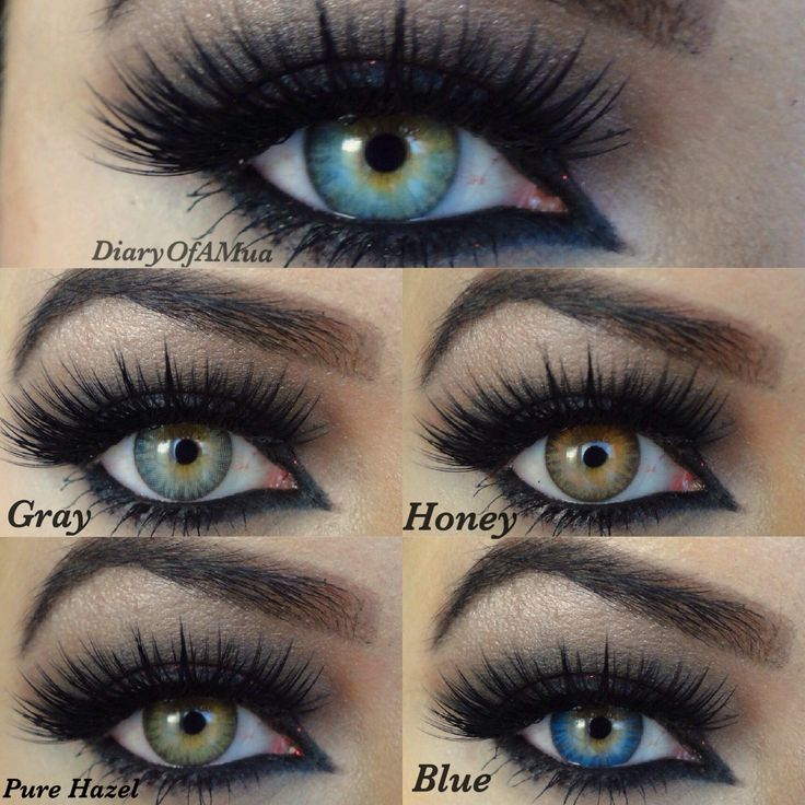 Best Blue Contacts Light Brown Color Eyes