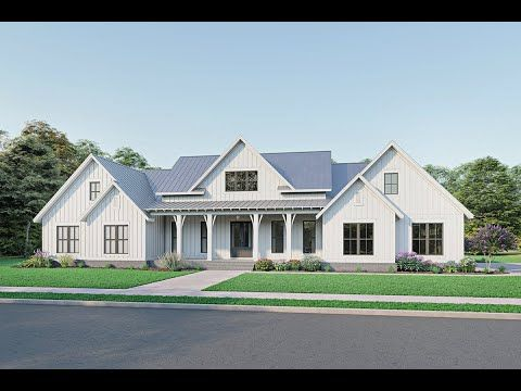 Pin By Claire Webb On For The Home In 2020 Modern Farmhouse Plans Farmhouse Plans Modern Farmhouse Floorplan