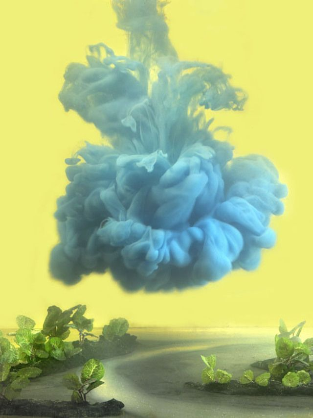 These Rainbow Clouds Made From Pigment in Water Are Stunning - by photographer Kim Keever